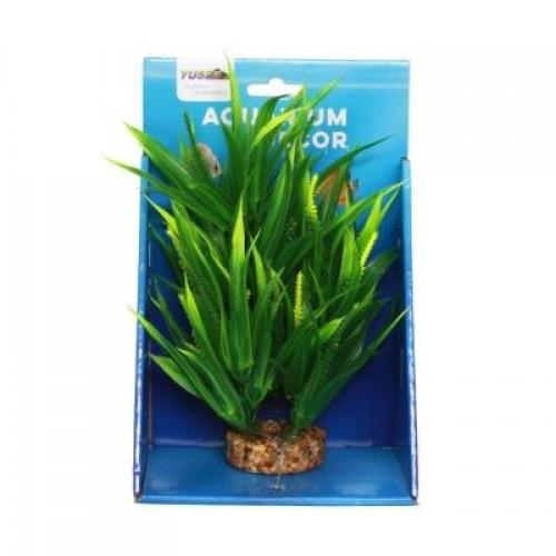 Искусственное растение Yusee Валлиснерия 20см