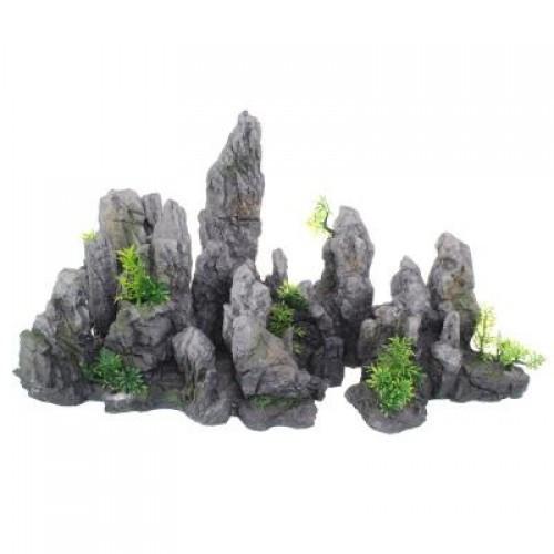 Декорация Yusee Готовая композиция - Серая гора 67x26x35см