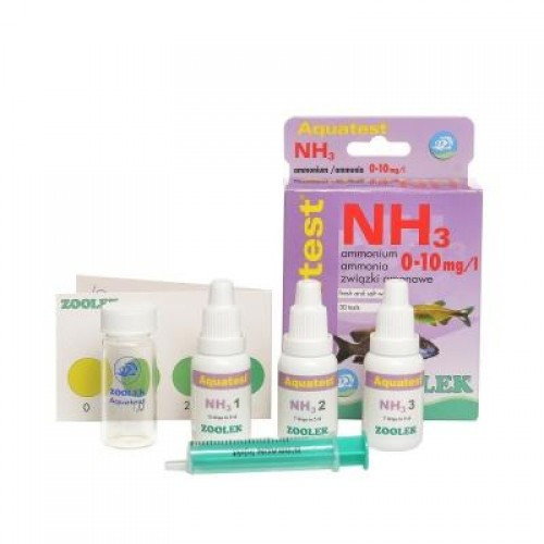 Тест содержания аммония - аммиака (NH3_NH4+) Zoolek Aquatest NH3