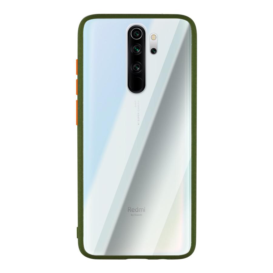 Чехол накладка Goospery Case для Xiaomi Redmi Note 8  Pro Clear/Olive/Orange