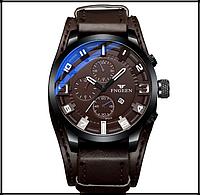 Мужские наручные часы ударопрочные P1010 коричневые