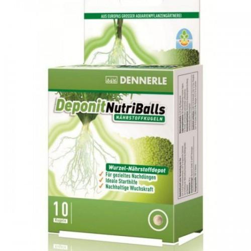 Корневое удобрение в виде шариков Dennerle Deponit NutriBalls для аквариумных растений, 10 шт.