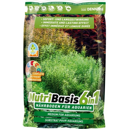 Грунтовая подкормка Dennerle Nutri Basis 6 in 1 для аквариумных растений, 9,6 кг