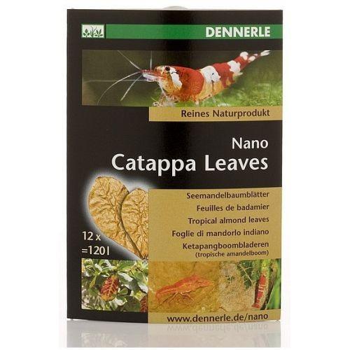 Листья миндального дерева Dennerle Nano Catappa Leaves, 12 шт