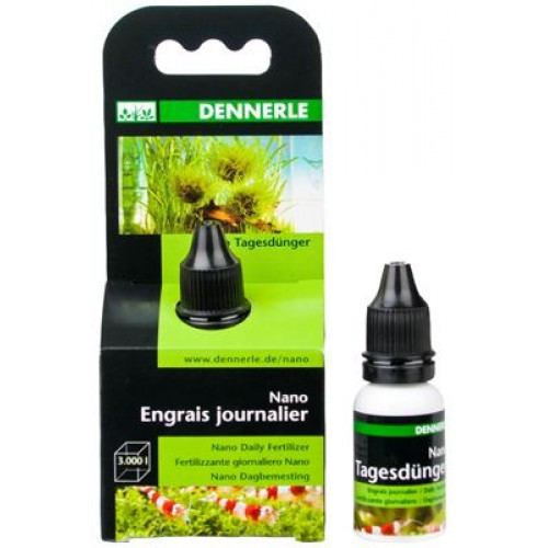 Комплексное ежедневное удобрение Dennerle Tagesdunger для великолепной растительности в мини-аквариумах, 15 мл