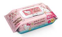 Hello Kitty салфетки влажные с клапаном, 80 шт.
