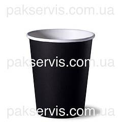 Стаканы бумажный Черный 450(500)мл, 50шт. 1/20