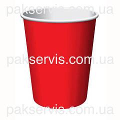 Стакани паперовий Червоний 450(500)мл, 50шт. 1/20