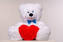 Плюшевий ведмедик з сердечком Yarokuz Джеймс 65 см Білий