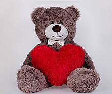 Плюшевий ведмідь з сердечком Yarokuz Джиммі 90 см Капучіно