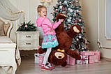 Ведмедик плюшевий Yarokuz Джон 110 см Шоколадний, фото 2