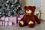 Мишка плюшевый Yarokuz Джон 110 см Шоколадный, фото 3