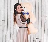 Мишка плюшевый Yarokuz Джон 110 см Персиковый, фото 4