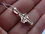 Золотой крест с белым золотом и цирконом, фото 4