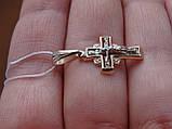 Золотой крест с белым золотом и цирконом, фото 5