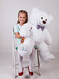 Ведмедик плюшевий Yarokuz Джон 110 см Білий, фото 2