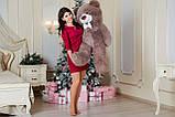 Плюшевий ведмедик Yarokuz Бенжамін 135 см Капучіно, фото 3
