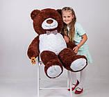 Плюшевий ведмедик Yarokuz Бенжамін 135 см Шоколадний, фото 3
