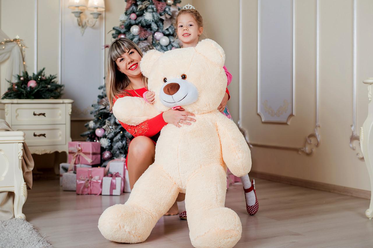Плюшевий ведмедик Yarokuz Бенжамін 135 см Персиковий