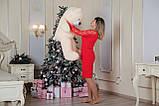 Плюшевий ведмедик Yarokuz Бенжамін 135 см Персиковий, фото 3