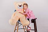 Плюшевий ведмедик Yarokuz Бенжамін 135 см Персиковий, фото 4