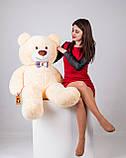 Плюшевий ведмедик Yarokuz Бенжамін 135 см Персиковий, фото 5
