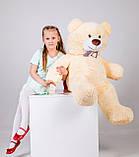 Плюшевий ведмедик Yarokuz Бенжамін 135 см Персиковий, фото 6