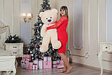Плюшевий ведмедик Yarokuz Бенжамін 135 см Персиковий, фото 7