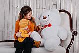 Плюшевий ведмедик Yarokuz Бенжамін 135 см Білий, фото 3
