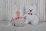 Плюшевий ведмедик Yarokuz Бенжамін 135 см Білий, фото 4