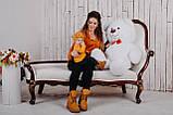 Плюшевий ведмедик Yarokuz Бенжамін 135 см Білий, фото 5