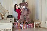 Большая мягкая игрушка мишка Yarokuz Билли 150 см Капучино, фото 4