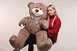 Большая мягкая игрушка мишка Yarokuz Билли 150 см Капучино, фото 6