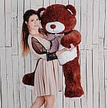 Большая мягкая игрушка мишка Yarokuz Билли 150 см Шоколадный, фото 3