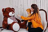 Большая мягкая игрушка мишка Yarokuz Билли 150 см Шоколадный, фото 5