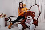 Большая мягкая игрушка мишка Yarokuz Билли 150 см Шоколадный, фото 6