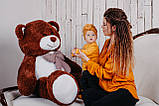 Большая мягкая игрушка мишка Yarokuz Билли 150 см Шоколадный, фото 7