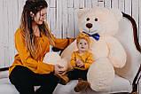Большая мягкая игрушка мишка Yarokuz Билли 150 см Персиковый, фото 4