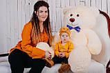 Большая мягкая игрушка мишка Yarokuz Билли 150 см Персиковый, фото 6