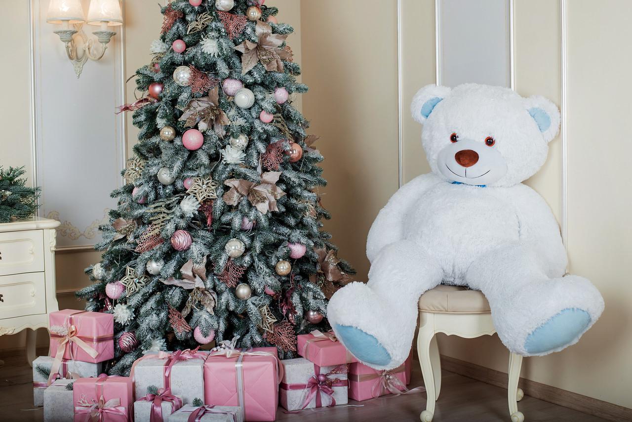 Велика м'яка іграшка ведмедик Yarokuz Біллі 150 см Білий