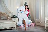 Большая мягкая игрушка мишка Yarokuz Билли 150 см Белый, фото 4