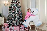 Большая мягкая игрушка мишка Yarokuz Билли 150 см Белый, фото 6