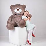 Великий плюшевий ведмідь Yarokuz Джеральд 165 см Капучіно, фото 4