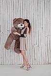 Большой плюшевый медведь Yarokuz Джеральд 165 см Капучино, фото 6