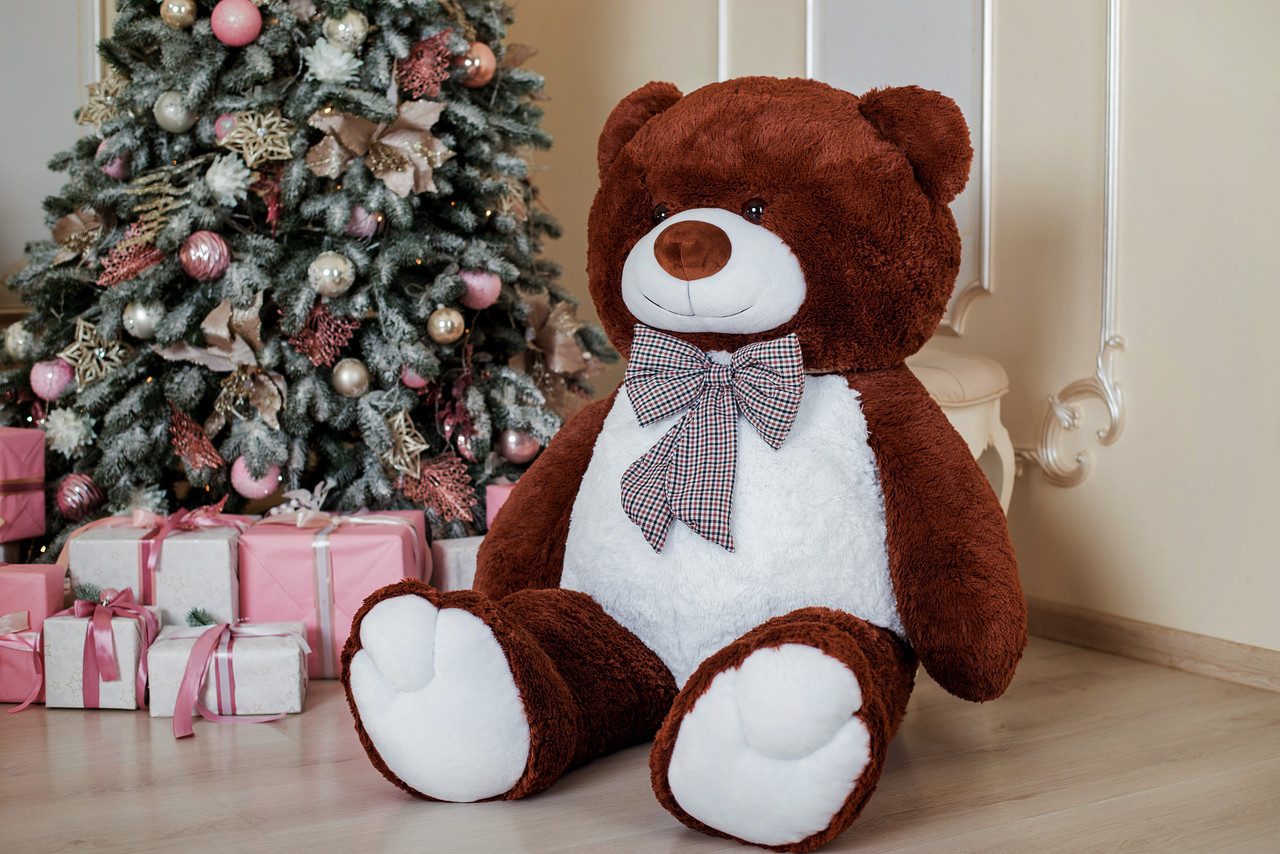 Великий плюшевий ведмідь Yarokuz Джеральд 165 см Шоколадний