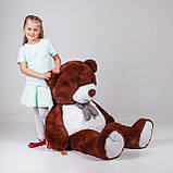 Великий плюшевий ведмідь Yarokuz Джеральд 165 см Шоколадний, фото 2