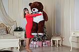 Великий плюшевий ведмідь Yarokuz Джеральд 165 см Шоколадний, фото 3