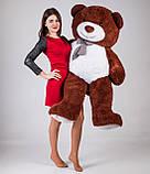 Большой плюшевый медведь Yarokuz Джеральд 165 см Шоколадный, фото 4