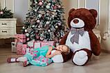 Великий плюшевий ведмідь Yarokuz Джеральд 165 см Шоколадний, фото 5