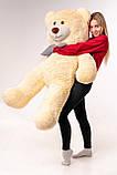 Великий плюшевий ведмідь Yarokuz Джеральд 165 см Персиковий, фото 2